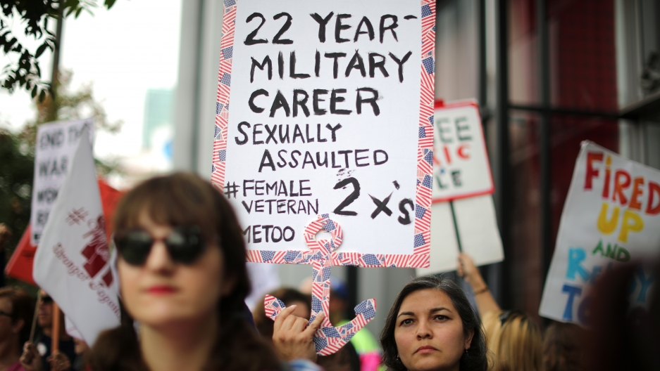 Women in the US military want their voices added to the #MeToo movement.  Women vets say sexual assault and harassment are rarely reported out of fear of retribution.