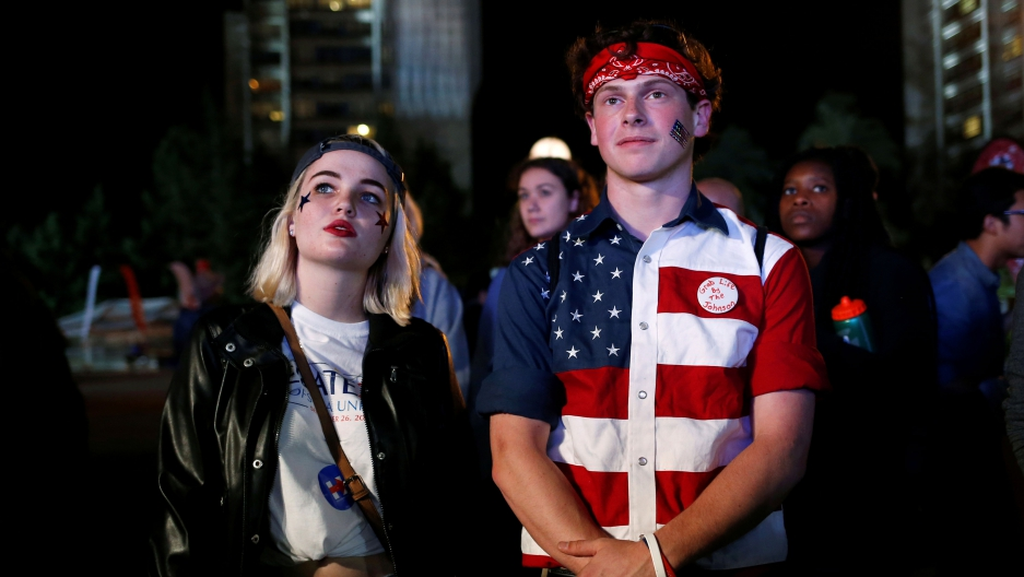 Millennials watching the debate.
