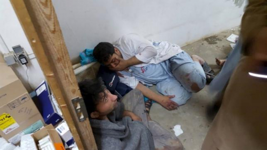 Workers react in hospital strike by airstrike in Afghanistan