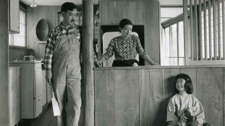 George and Marion Nakashima, photographed with their daughter Mira.