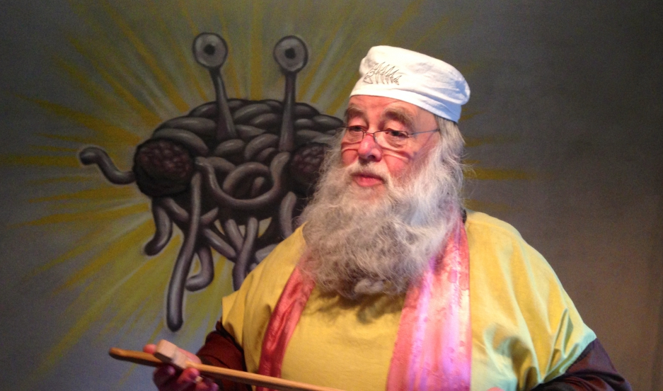 "Rüdiger Weida, aka ""Bruder Spaghettus"", founded a church dedicated to the worship of ""the Flying Spaghetti Monster"" in Templin, Germany."