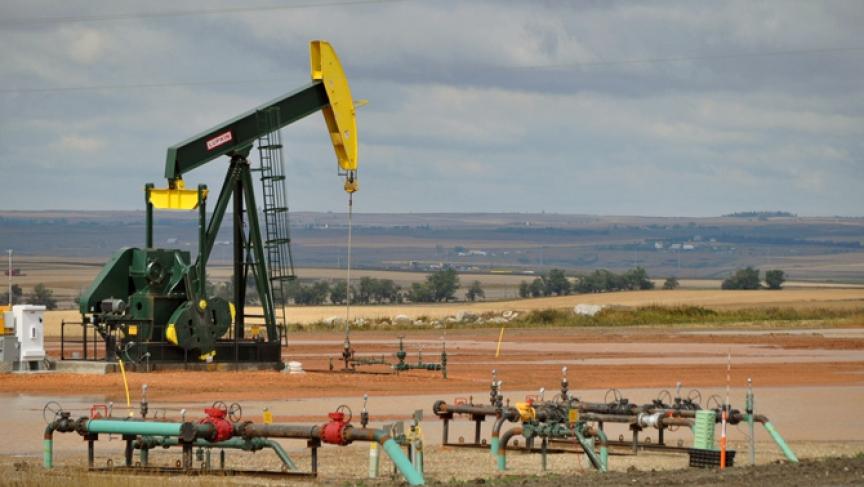 Fracking site in North Dakota