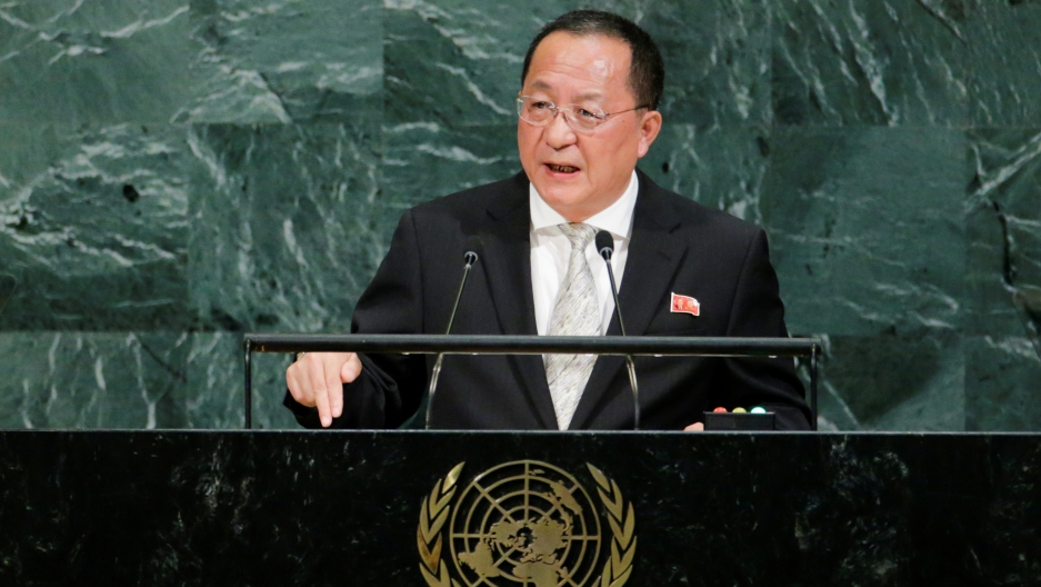 North Korean Foreign Minister Ri Yong-ho addresses the 72nd United Nations General Assembly