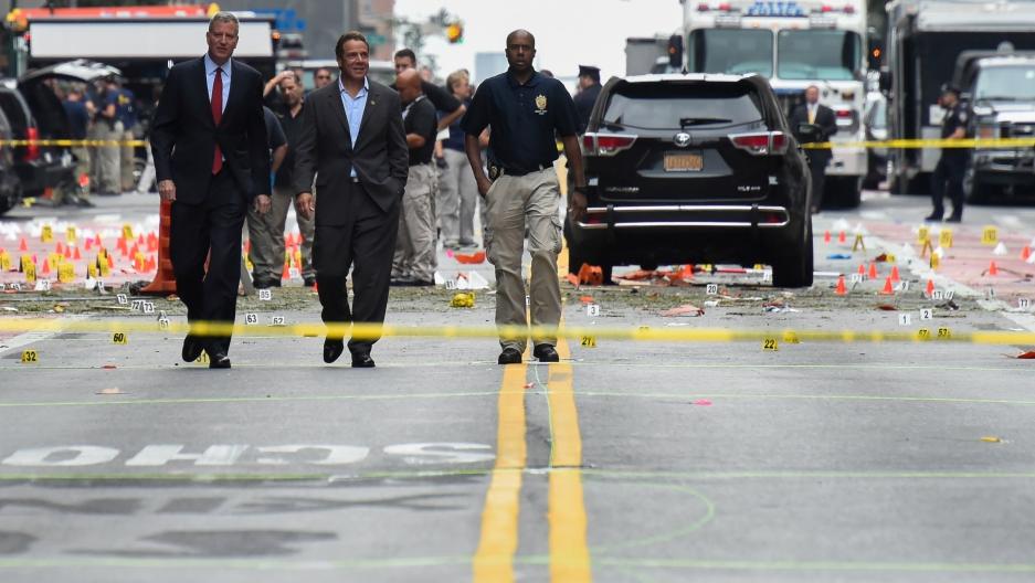 New York Mayor Bill de Blasio and New York Governor Andrew Cuomo