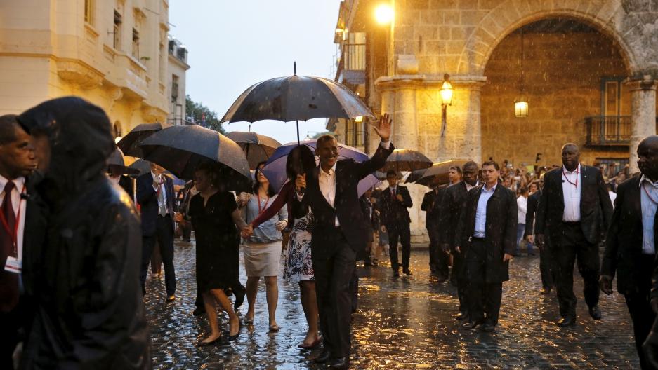 Barack Obama tours Old Havana