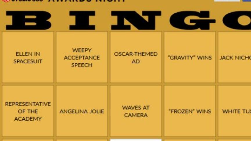 Studio 360 Oscar night bingo 2014