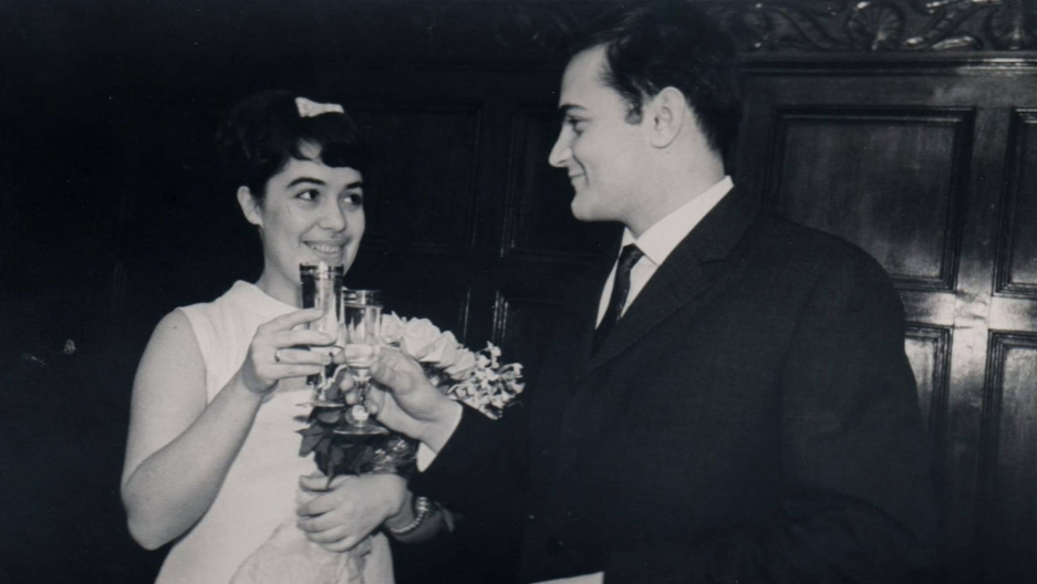 Mikhail and Nataliya Malkes at their wedding in Moscow in 1965.