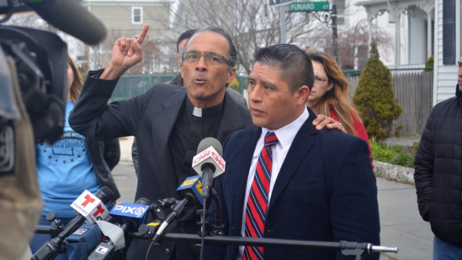 "Calling Donald Trump ""a symbol of hate against my community and the immigrant community in general,"" the brother of murdered Ecuadorian immigrant Marcelo Lucero asked that Thursday's planned Trump visit to Patchogue be called off."