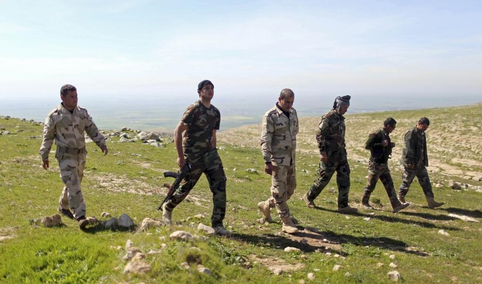 Peshmerga on patrol