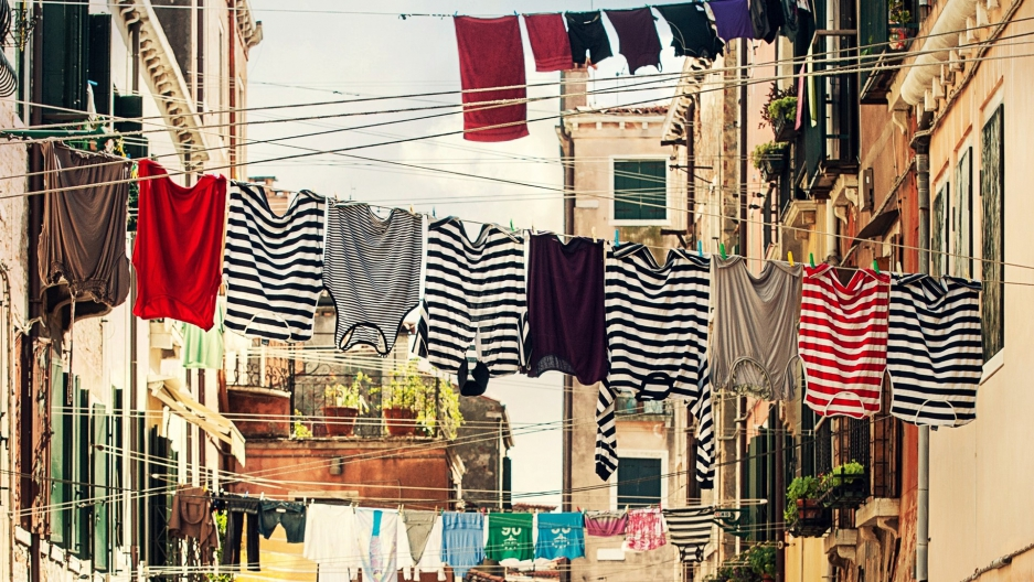Clothing on laundry line