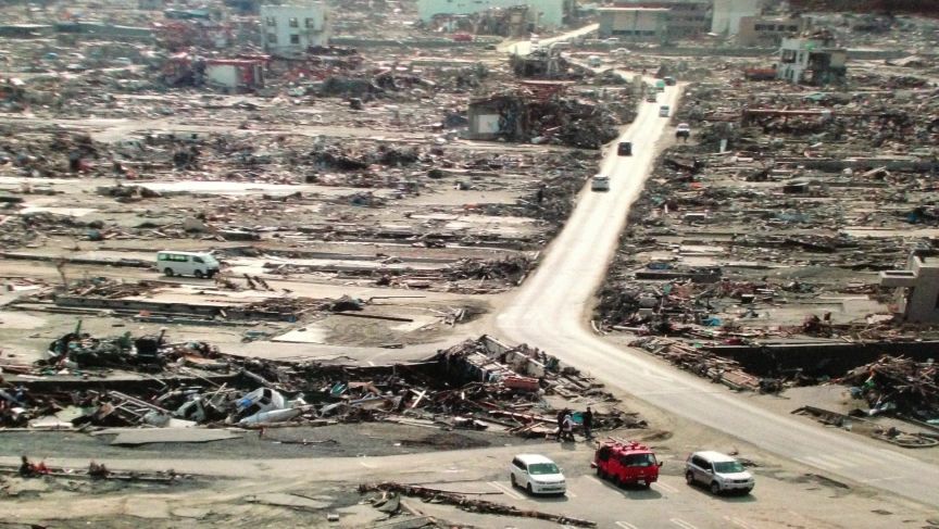 The Japanese town of Minamisanriku in the Miyagi Prefecture was destroyed by the 2011 tsunami.