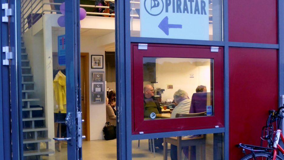 The entrance of the Icelandic Pirate Party headquarters