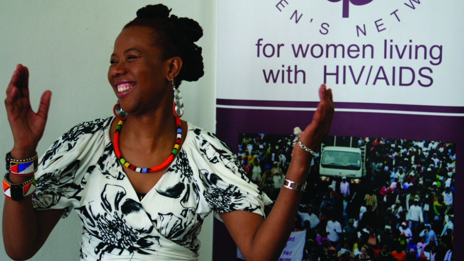 Prudence Mabele, an HIV activist.
