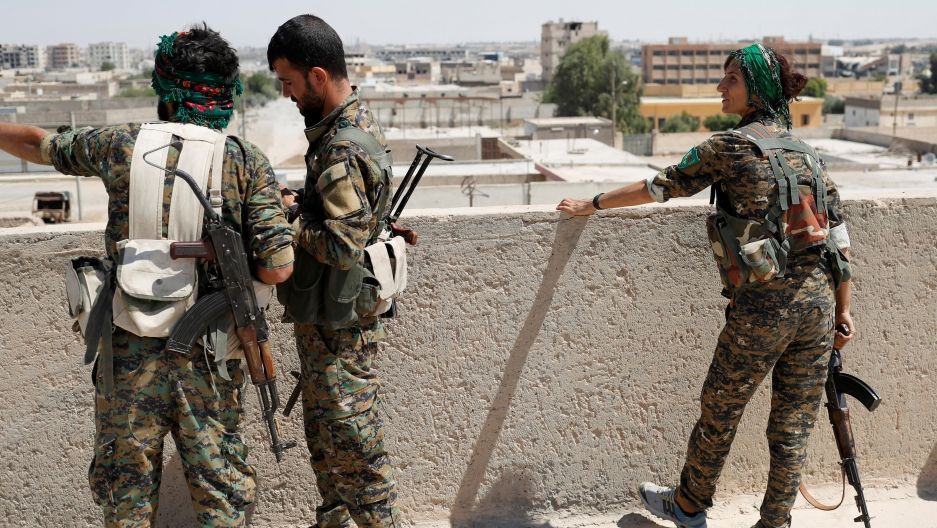 Kurdish fighters from the People's Protection Units (YPG)