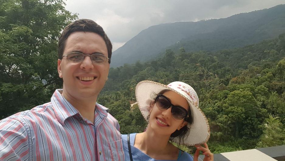 Omid Moghimi and his wife Dorsa Razi.
