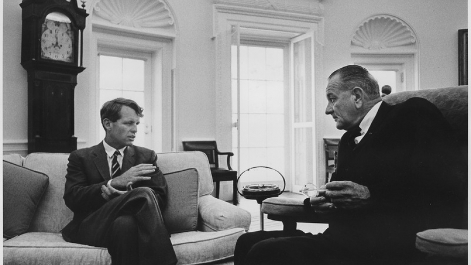 Robert F. Kennedy with Lyndon B. Johnson
