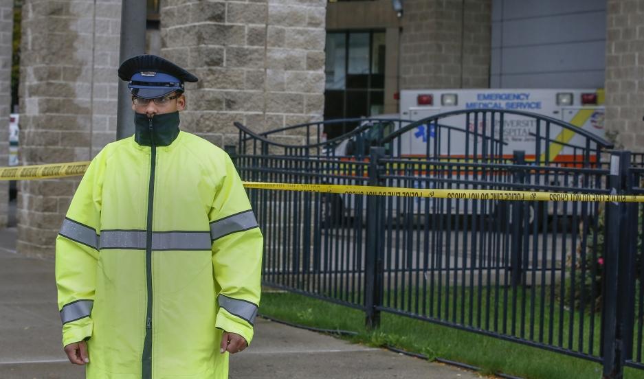 A hospital security guard