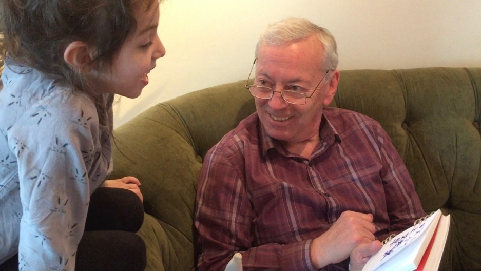 Alina Simone's daughter Zoe teaches her Russian-speaking grandfather some basic Chinese.