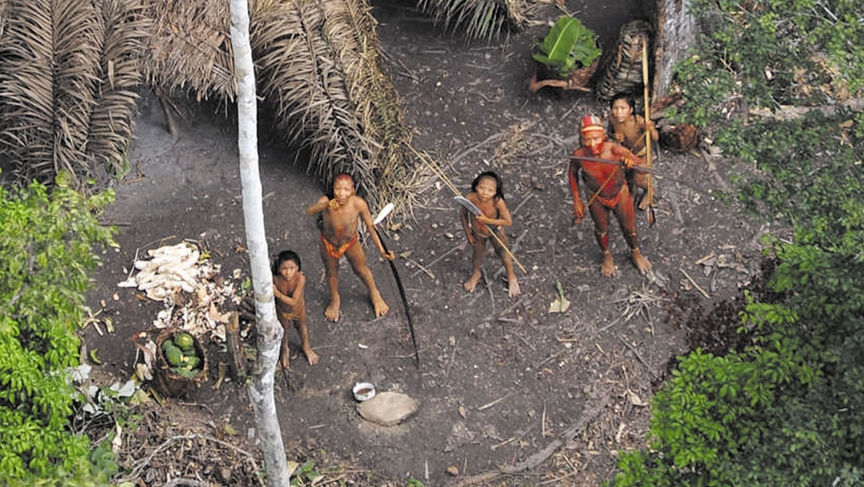 Uncontacted Brazil tribe hi-res