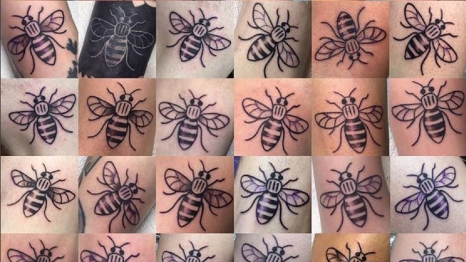 Why thousands of people in Manchester are getting bee tattoos