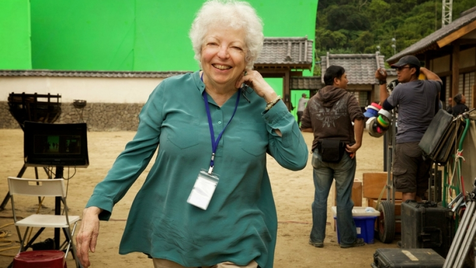 """Thelma Schoonmaker on the set of """"Silence"""""""
