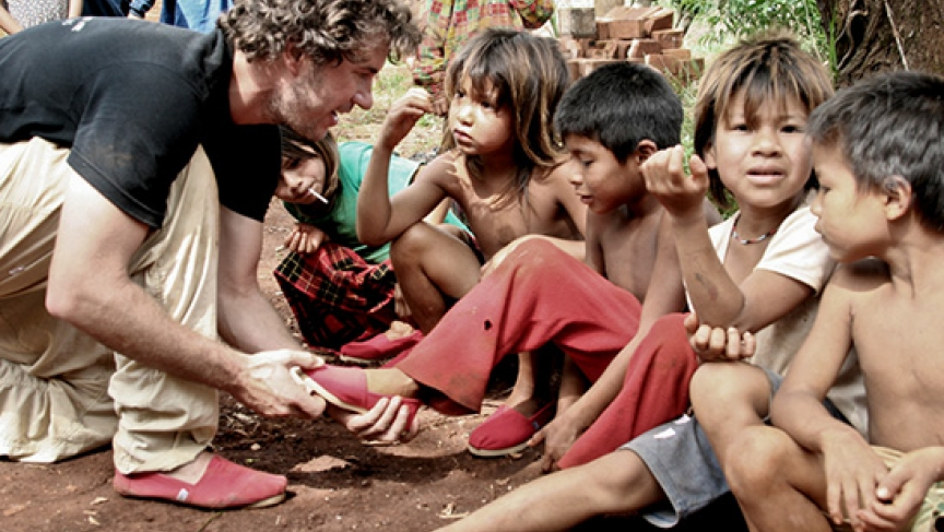 Blake Mycoskie, founder of TOMS Shoes.