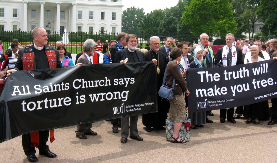 Supporters of the National Religious Campaign Against Torture attended a rally outside the White House in 2009.