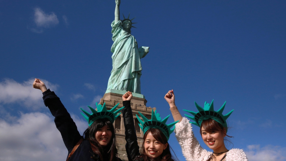 The Statue of Liberty is one of the United States' most-visited tourist attractions.