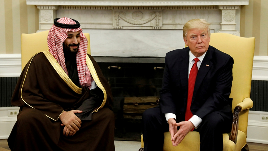 Donald Trump meets Saudi Deputy Crown Prince Mohammed bin Salman in the White House