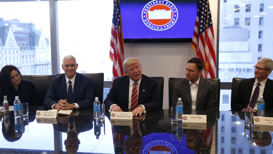 President Trump meets with tech leaders