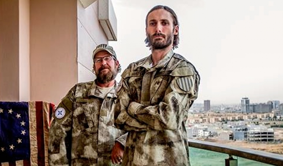 """Matthew VanDyke (right) says Iraqi Christians will be """"wiped out"""" if they don't get help defending themselves."""