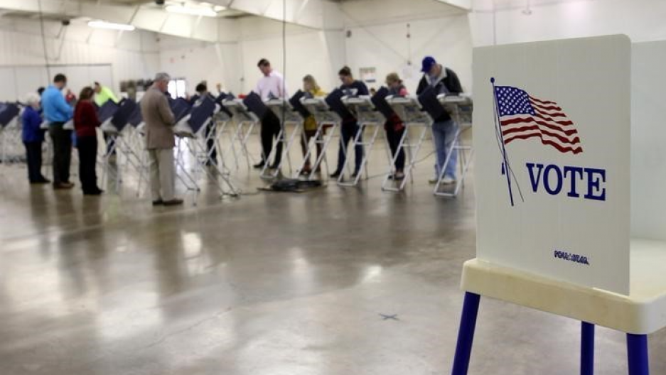 Voters in Ohio cast their votes during the 2016 US presidential election.