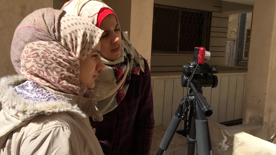 """I want every girl who went through something as I have ... just not to be quiet about it and not to keep things inside of her,"" says a 16 year old Syrian filmmaker who uses the name Walaa al Alawi."