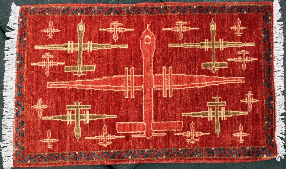 Afghan And Pakistani Weaver Make War Rugs With Drone Motifs