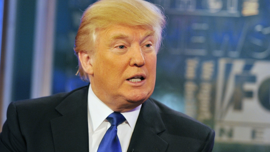 Donald Trump on 'FOX and Friends' at FOX Studios in New York City on Aug. 29, 2011.