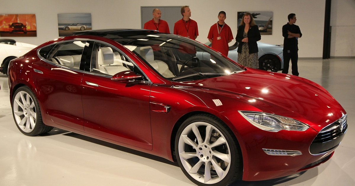 The price of a Tesla Model S electric car starts at $70,000.</p>