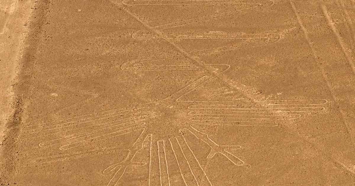 Bird image from the Nazca Lines in Peru.</p>
