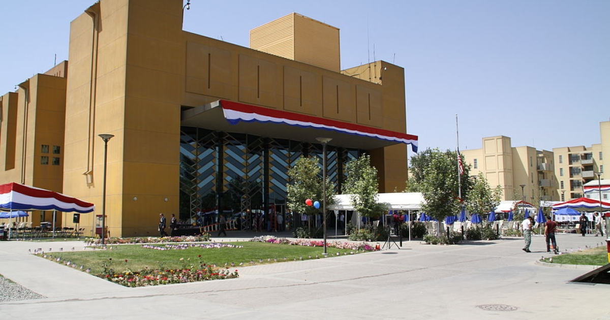 The US Embassy in Kabul, Afghanistan.</p>