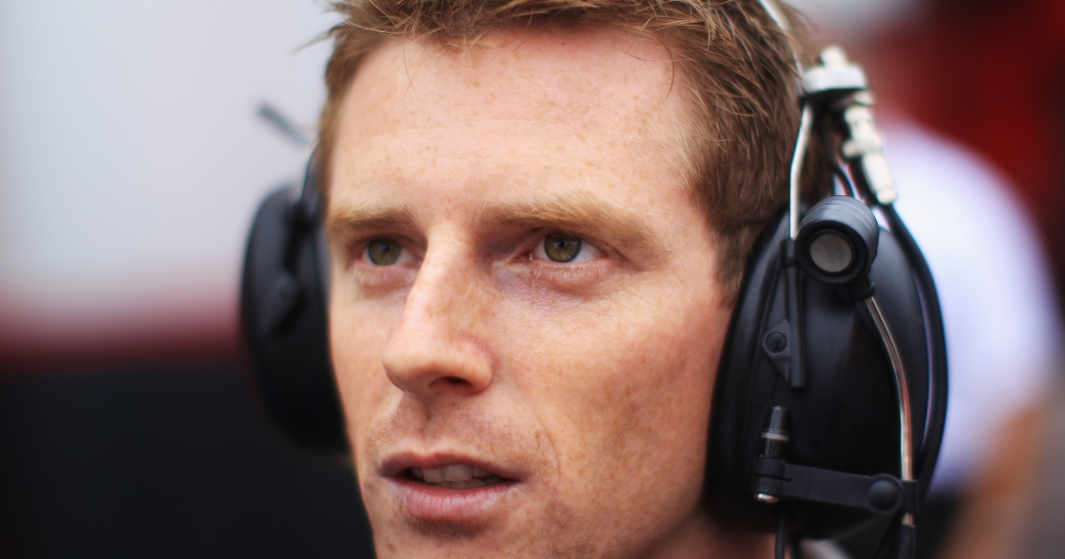 Former F1 driver Anthony Davidson commentates for the BBC before qualifying for the German Grand Prix at Hockenheimring on July 24, 2010 in Hockenheim, Germany.</p>