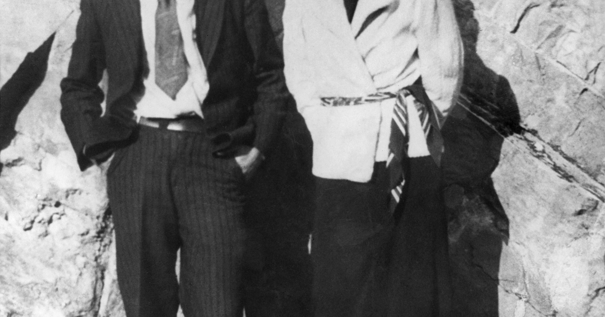 A photo of Bonnie Parker and Clyde Barrow, better known as the infamous gangster duo