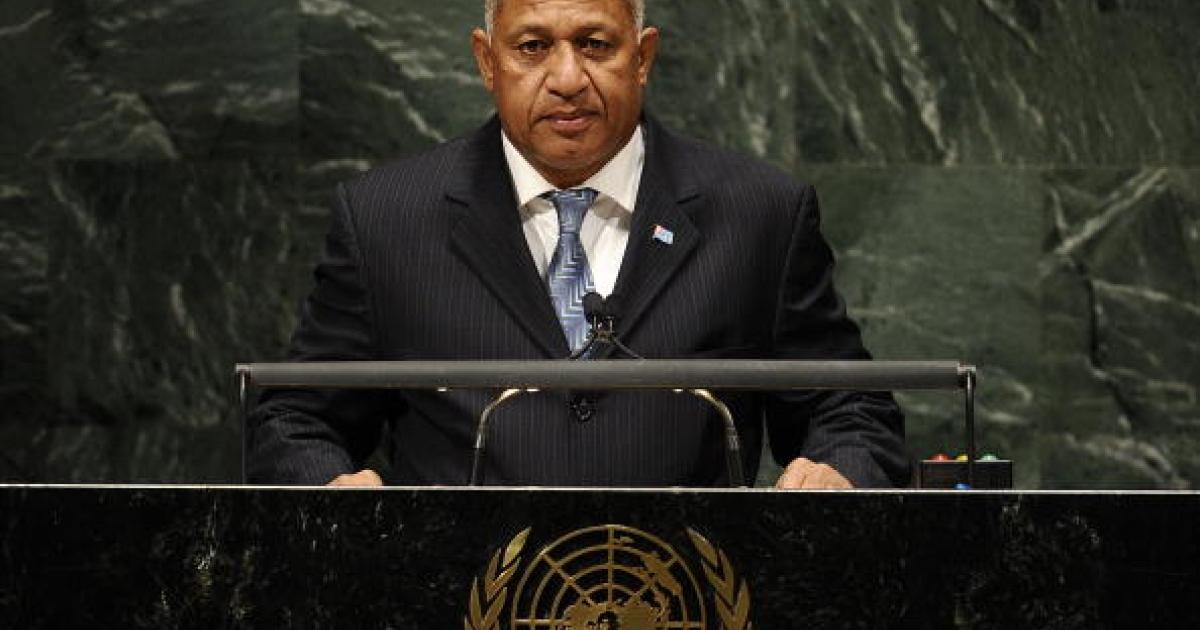 Fiji's Prime Minister Commodore Voreqe
