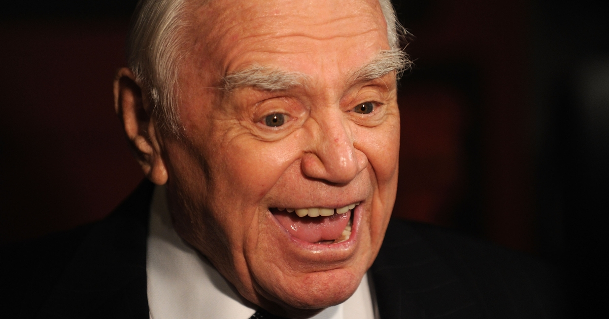Actor Ernest Borgnine attends The Cinema Society &amp; OC Concept screening of 'RED' at The Museum of Modern Art on October 3, 2010 in New York City.</p>