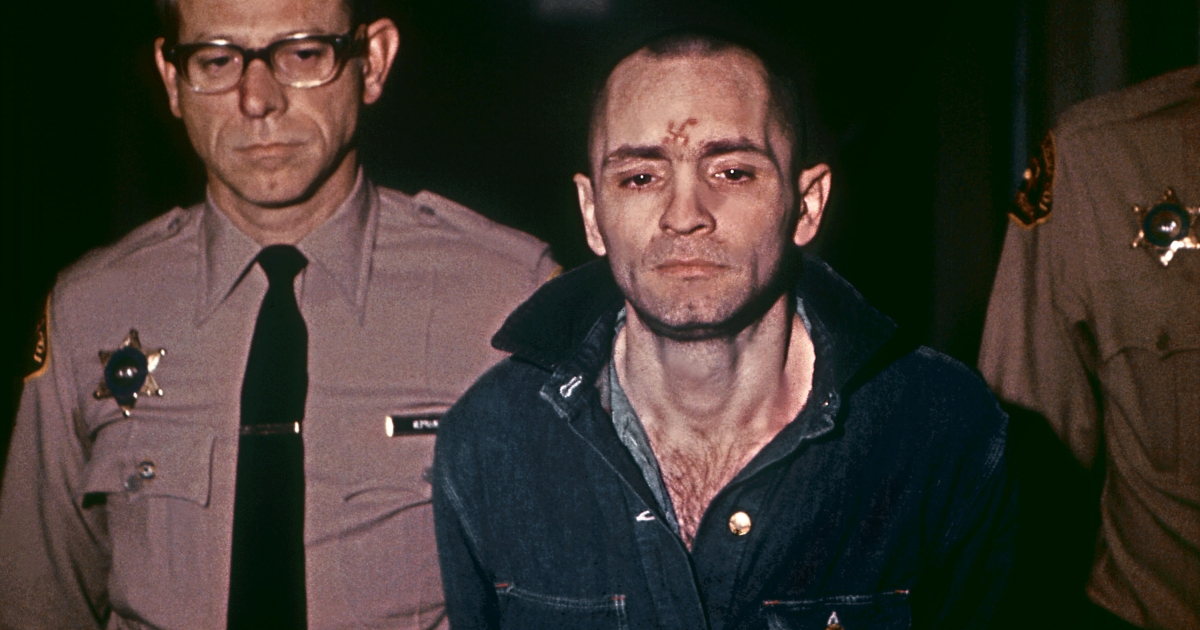 A beardless and shaven-headed Charles Manson goes to hear sentence of death in the gas chamber passed by March 29, 1971, in Los Angeles.</p>