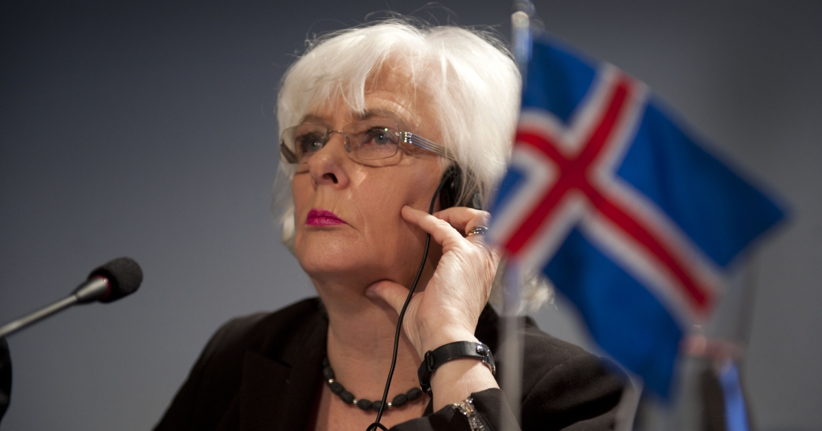 Iceland Prime Minister Johanna Sigurdardottir. International credit rating agency Fitch upgraded Iceland's sovereign debt from