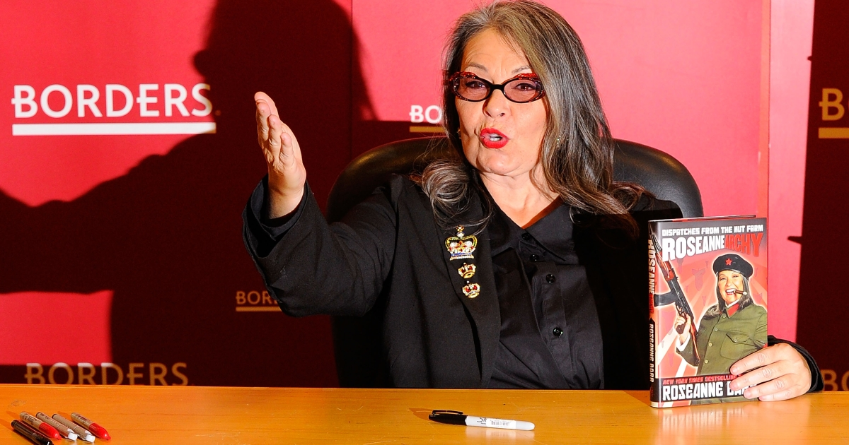 Roseanne Barr promotes her book