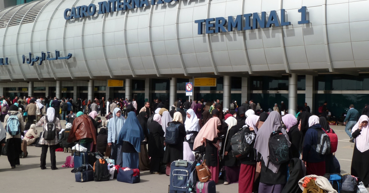 Cairo's International Airport in February 2011. The first direct flight between Egypt and Iran in more than 30 years took off from Cairo and landed in Tehran on March 30, 2013.</p>