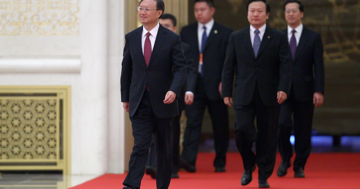 Chinese Foreign Minister Yang Jiechi (left) attends a news conference at The Great Hall Of The People on March 7, 2011 in Beijing, China. Yang voiced Beijing's firm opposition to the sale of U.S. arms by Washington to Taiwan, saying the U.S. government