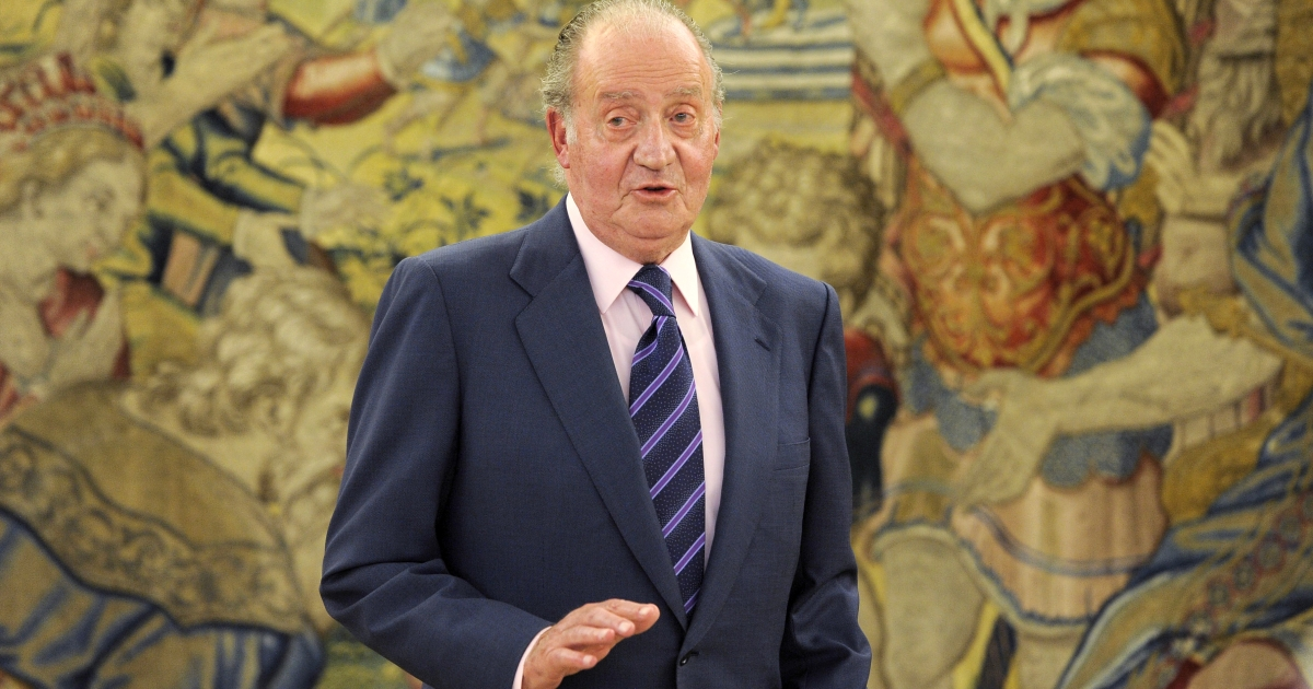 Spanish King Juan Carlos I pictured at La Zarzuela Palace in Madrid on March 18, 2011.</p>