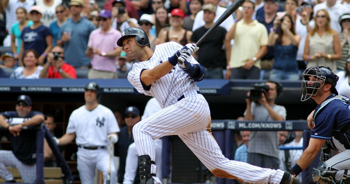 Derek Jeter hit a home run at Yankee Stadium and became the first Yankee to reach the 3,000 hits milestone.</p>