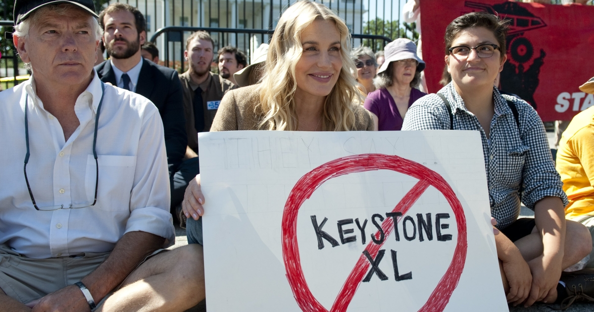 The contentious Keystone XL pipeline will begin work on the Oklahoma to Gulf Coast portion that does not require State Department approval.</p>